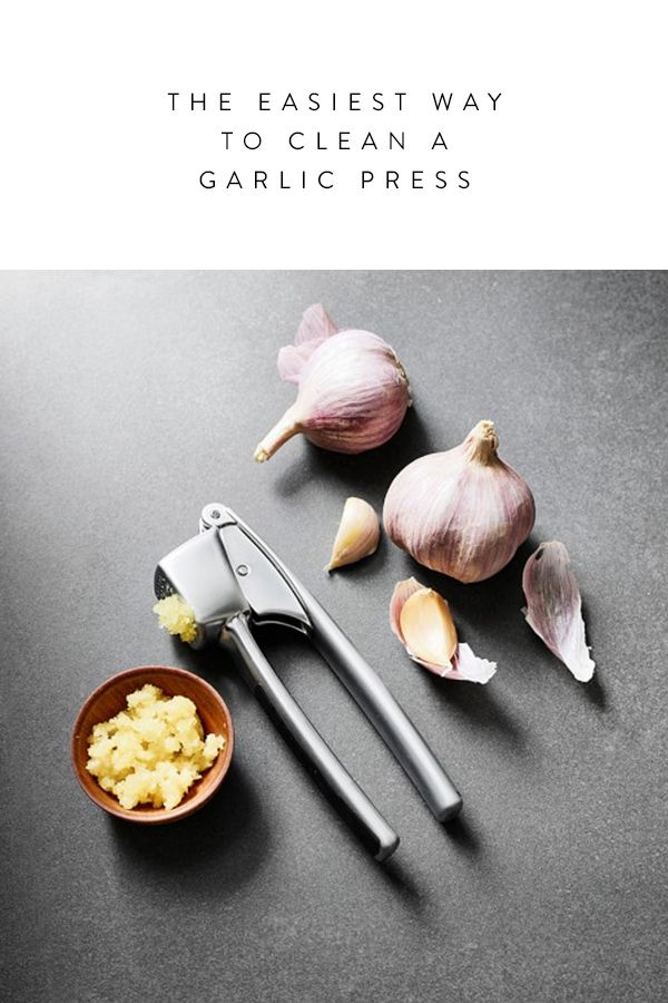 The Easiest Way to Clean a Garlic Press