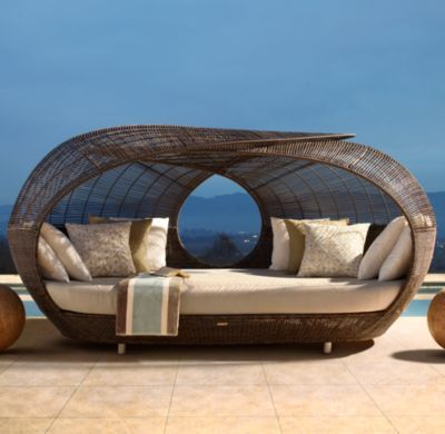 Spartan day bed.  Yes please!: Outdoor Beds, Restoration Hardware, Outdoor Furniture, Spartan Daybeds, Lounge, Patio, Beaches Houses, Places, Pools