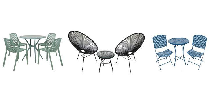 Voyez notre sélection colorée et aux styles variés d'ensembles de salle à manger pour l'extérieur.