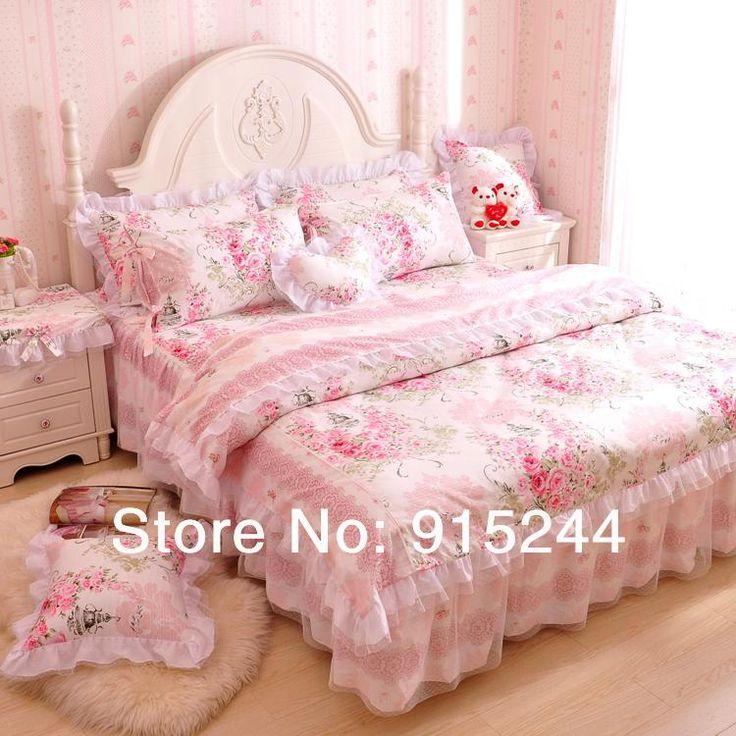 Princess Dream Laciness Pink Rose 100 Cotton Set Pure