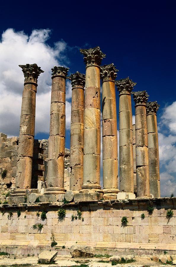 Ruinas romanas en Jerash, Jordania