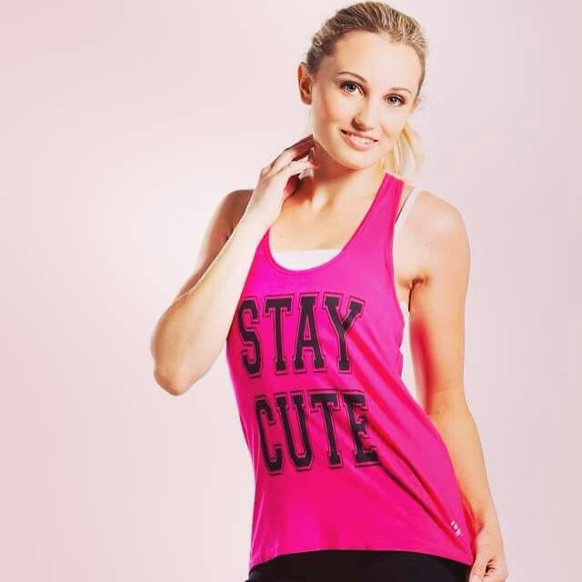 Supple Sports Loose Fitting Tank Top with Stay Cute Print...