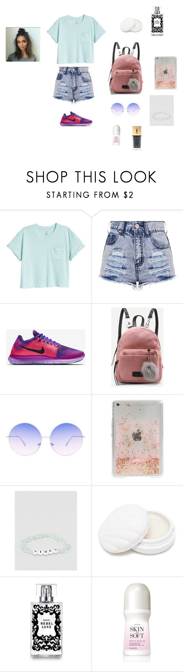 """""""Kid"""" by aiea ❤ liked on Polyvore featuring NIKE, Skinnydip, ASOS, Forever 21, Avon and Yves Saint Laurent"""