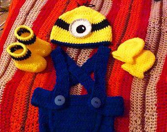 Minion inspiriert Baby Hut häkeln und von RampantPenguinGifts