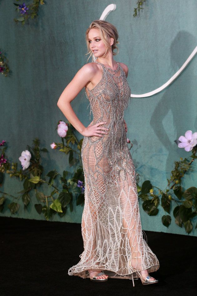 Jennifer Lawrence Is Sheer Perfection In This Silver Gown | HuffPost