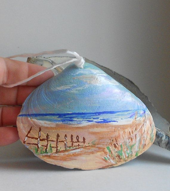 Mothers Day beach decoration hand painted by 1022SeaShellAve, $12.00