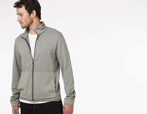 James Perse Mid-Weight Funnel Neck Full Zip2012Winter 2013, Fall 2012Winter
