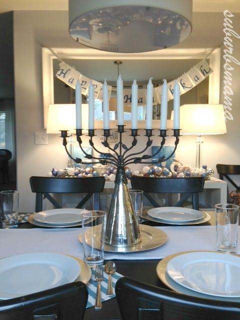 Beautiful Hanukkah Table Decor Hanukkah Jewish Hanukkah