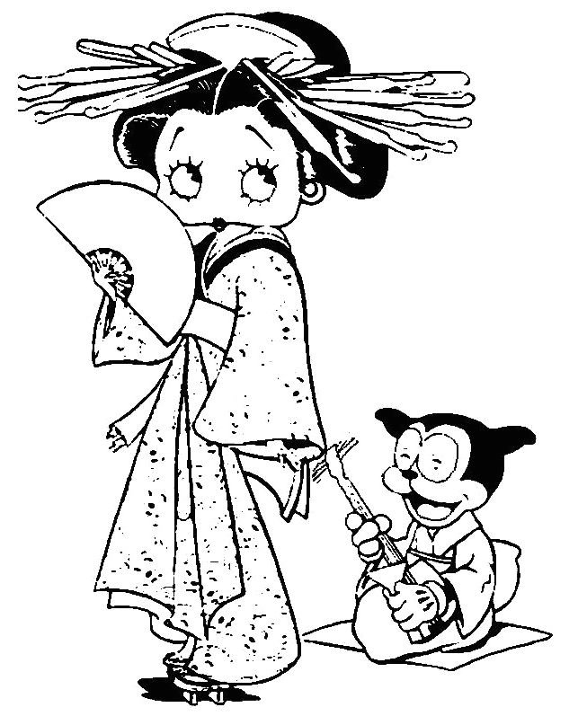 462 best betty boop images on pinterest   betty boop, 3d cards and ... - Betty Boop Coloring Pages Print