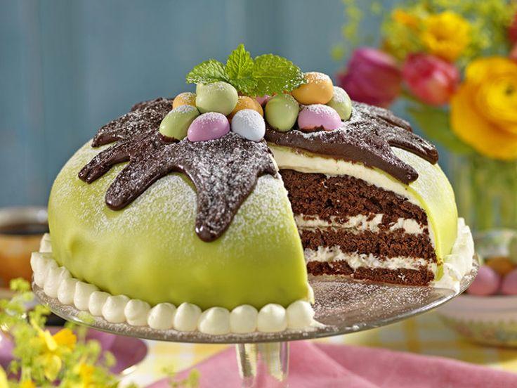 Chokladtårta med päron