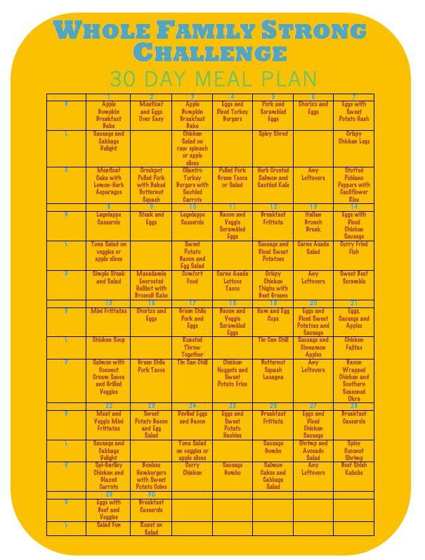 30 day diet plan jillian michaels