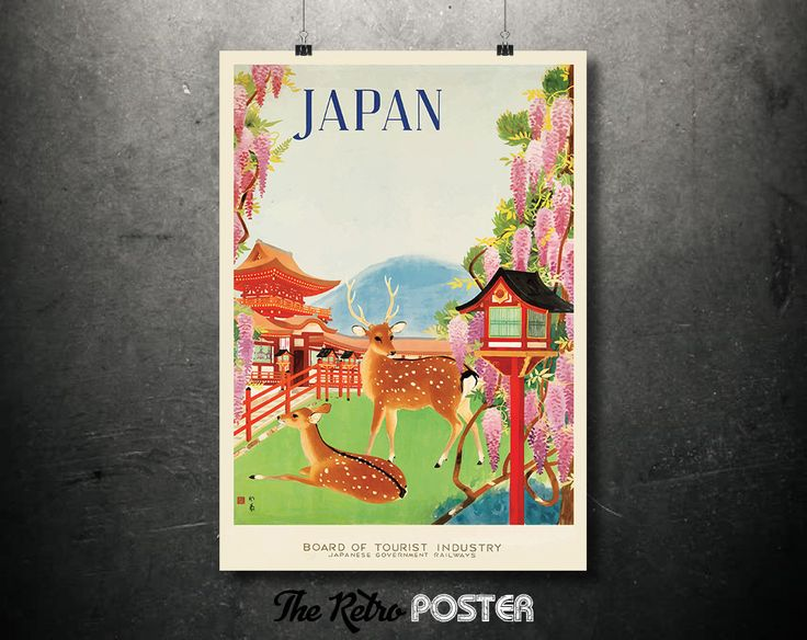 1930s Japan - Board of Tourist Industry - Japanese Government Railways Vintage Poster // High Quality Fine Art Reproduction Giclée Print by TheRetroPoster on Etsy