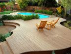Small Garden landscaping ideas for small backyards with pool and deck
