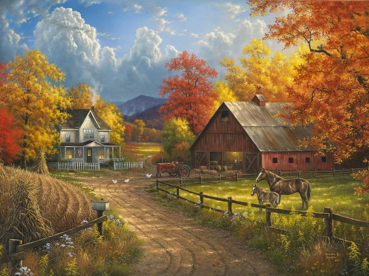 Free Fall Season Wallpaper Paintings Of Canadian Country Scenes Google Search