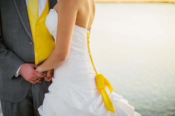 Yellow & Grey Superhero Wedding – Tampa Bay Watch - Angel He Photography