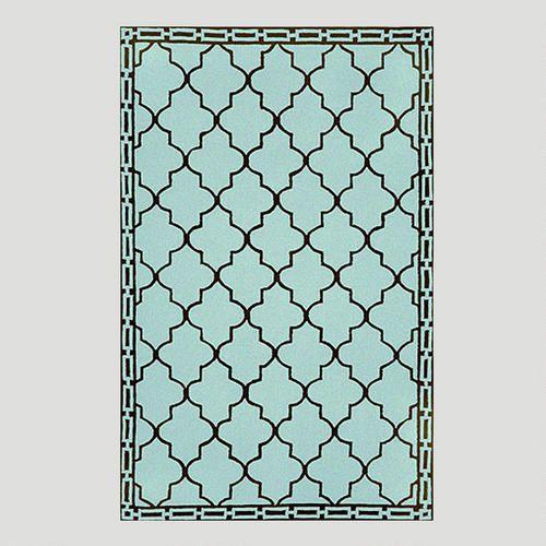 One of my favorite discoveries at WorldMarket.com: Aqua Floor Tile Indoor-Outdoor Rug