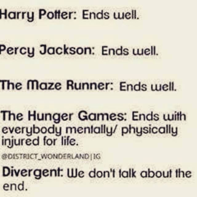 Percy Jackson doesn't end well....... There's a lots of sadness in the ending