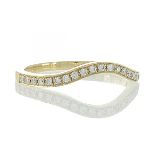 A Curved Diamond Set Wedder. View our collection of modern and antique gold, platinum, and gem-set rings to mark any celebration at www.rutherford.com.au