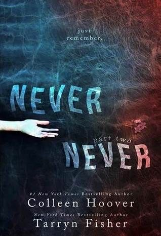 #Reseña 170 - Never Never: Part Two   {CONTIENE SPOILERS DEL PRIMER LIBRO}  Autor: Colleen Hoover y Tarryn Fisher Editorial: CreateSpace Nº de páginas: 158 Saga: Never Never {2/3} Precio: ISBN: 9781311051158 Sinopsis: Never forget that I was your first real kiss. Never forget that youll be my last. And never stop loving me between all of them. Never stop Charlie. Never forget. Silas races against time as more truths unravel while others twist tighter together. And now the stakes are higher…