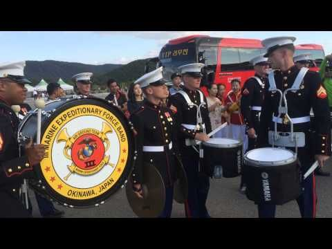 Watch this epic drum battle between a Marine Corps band and their Korean counterparts | Rare