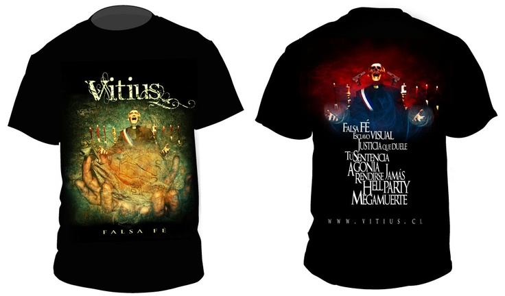 T-shirt Design Vitius Band
