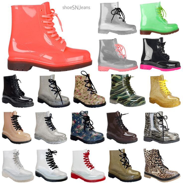 New Women Clear Jelly Rain Boots Lace Up Low Ankle Flat Rubber Wellies Shoes #Unbranded #JellyShoesRainBoots