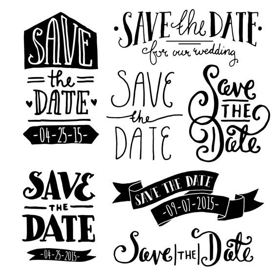 Save the Date Overlays 1 // Photoshop PSD // von thePENandBRUSH