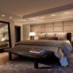 Desain tata lampu pada kamar tidur elegan cantik