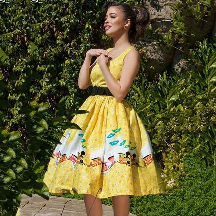 Vestido, audrey Hepburn mulheres Floral imprimir Vestidos de festa 50 s Vintage Rockabilly Vestidos feminino Vestidos em Vestidos de Roupas e Acessórios no AliExpress.com | Alibaba Group