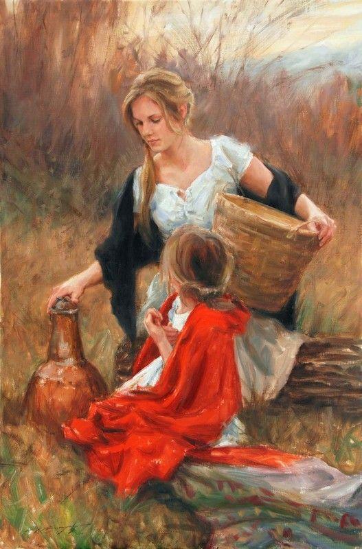 Resultado de imagen de madre e hija. oil paint
