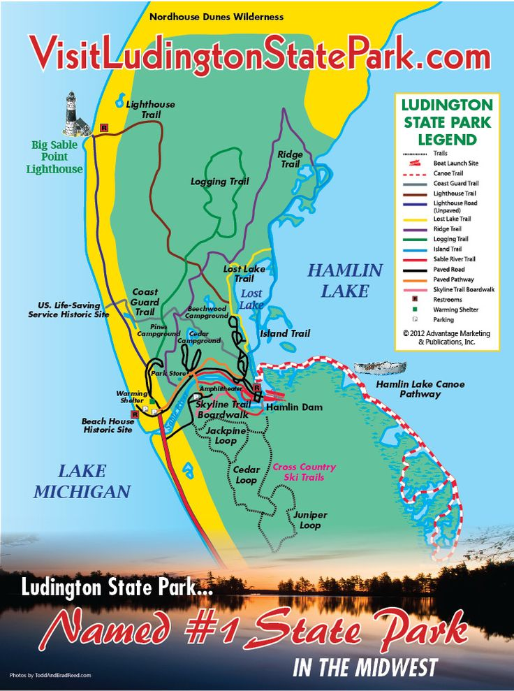 Ludington State Park - Visit Ludington State Park on Lake Michigan and Hamlin Lake in West Michigan