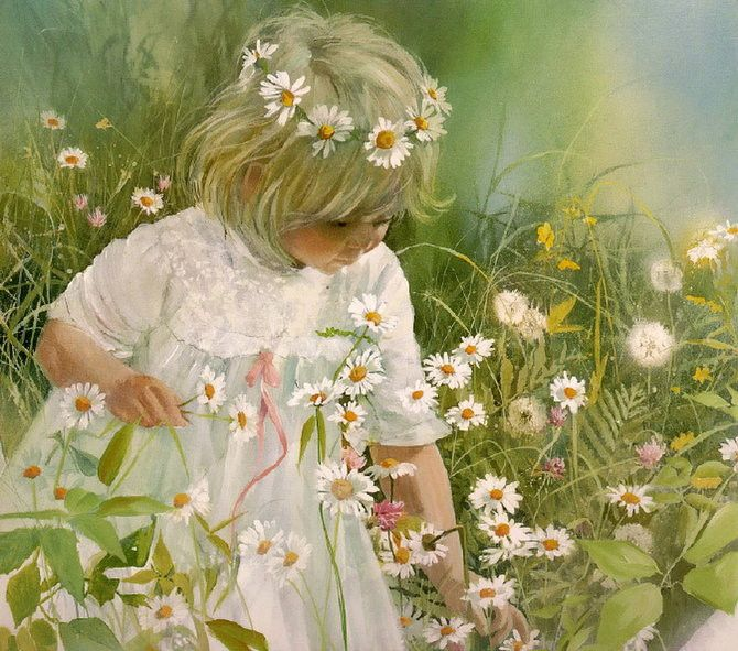Figures Watercolour painting of artist Carolyn Blish (24) – Best Watercolor Painting