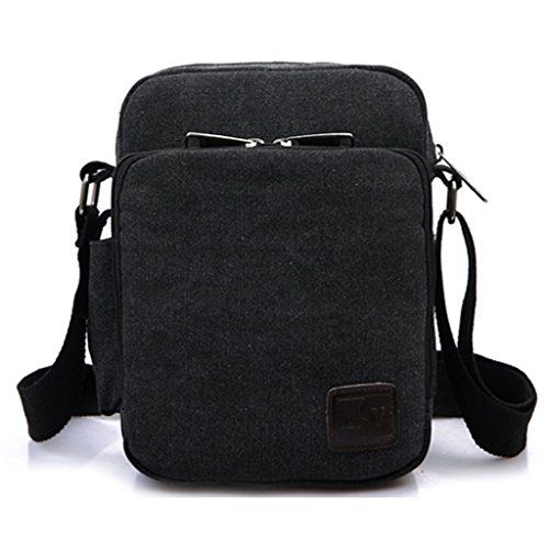 MeCool Men's Canvas Shoulder for Travel Messenger Crossbody Outdoor Sports Over Shoulder Military Overnight Casual Cross Body Side Gym Pack Bag Black MeCool http://www.amazon.co.uk/dp/B011LOTHIO/ref=cm_sw_r_pi_dp_rsH6wb068HSXP