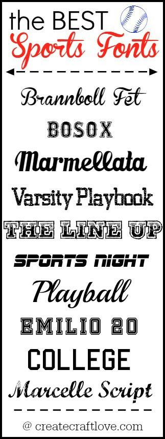The BEST Sports Fonts | Create Craft Love ~~ {10 Free fonts w/ links}