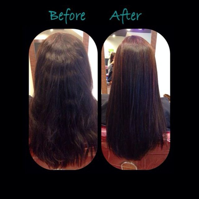 Before And After YUKO Hair Straightening ! Stop using irons everyday, with our YUKO Hair Straightening you will never have to use the iron again. Leaves your hair soft and healthy.  #yukohairstraightening #yuko #hair #straighthair #beautifulhair #softhair #shinyhair #summerhair