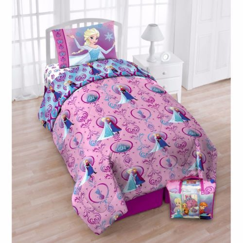 Disney Frozen Twin Bed in Bag Set  Reversible comforter & Sheet Set Kids Bedding