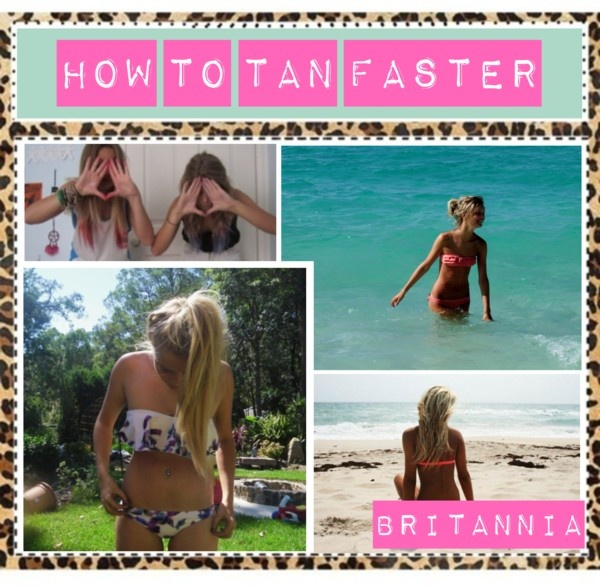 """How to Tan Faster"" by poly-tip-gurls ❤ liked on Polyvore"