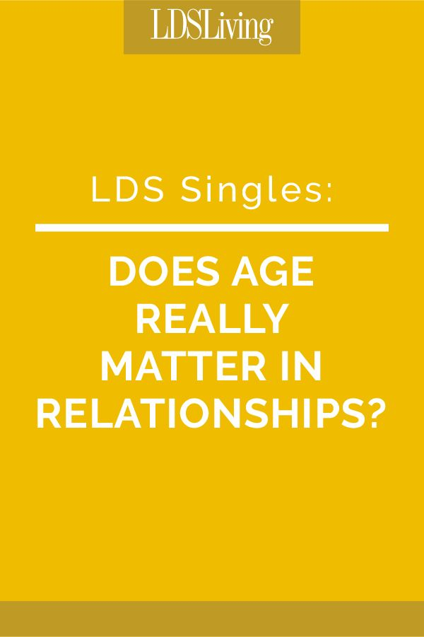mormon dating age