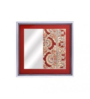 Red Hand painted Kalamkari Mirror Frame