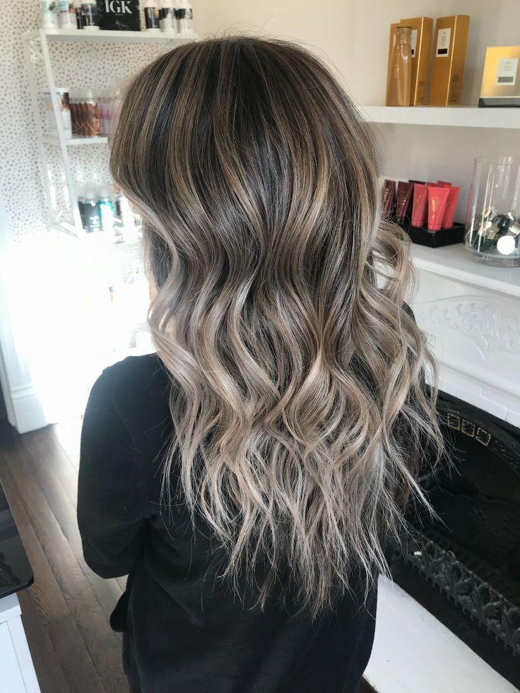 Ash Blonde Hair Ashy Brown Silver Gray Hair Balayage