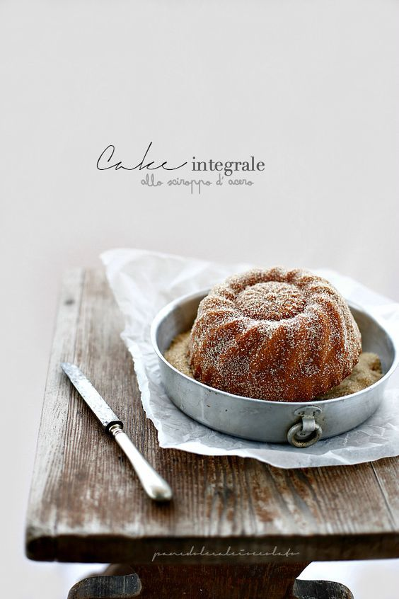 PANEDOLCEALCIOCCOLATO: Torta integrale allo sciroppo d' Acero - Cake wholemeal flour Maple syrup