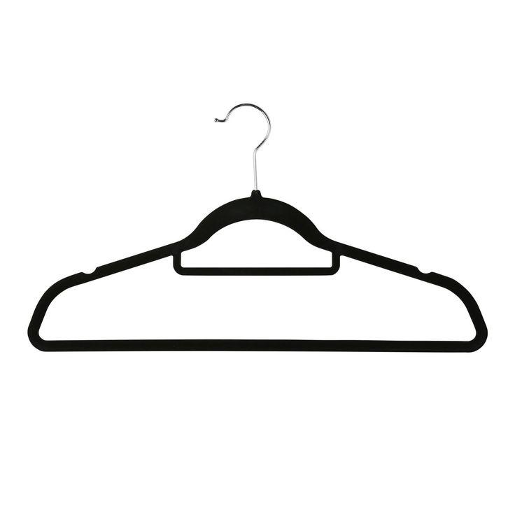 Non Slip Hanger 20 Pack Black
