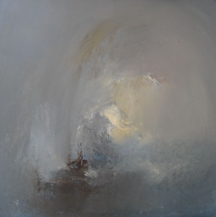 Sky, rain and sea 38 x 38 cm oil on board