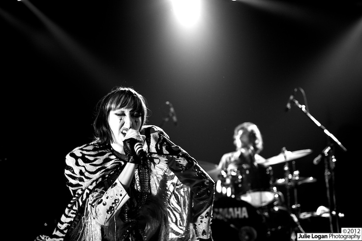 Yeah Yeah Yeahs at Creators Project in San Francisco. Photograph by Julie Logan. #bw #photography