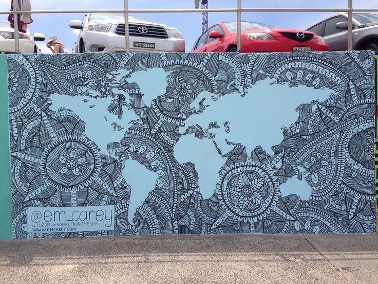 Street art Bondi Sydney Australia #2sewtextiles