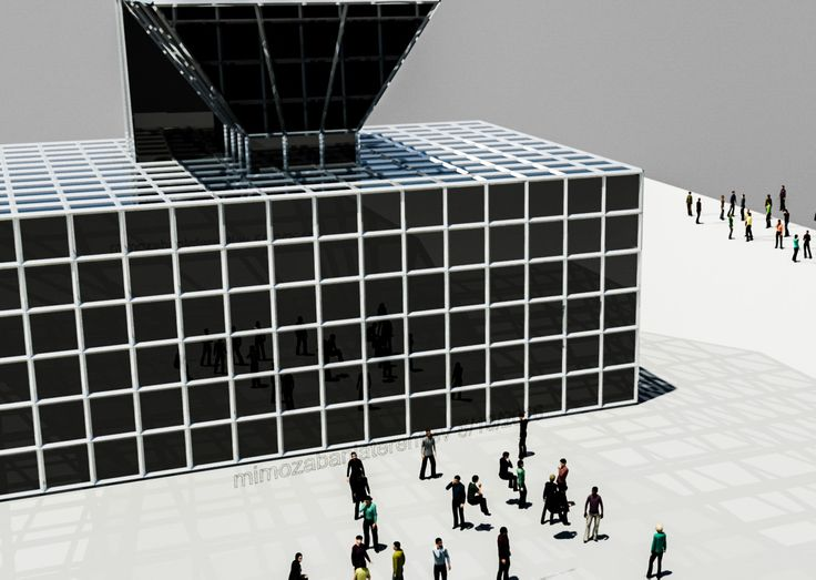 A design for the new idea of buildings with solar palettes.