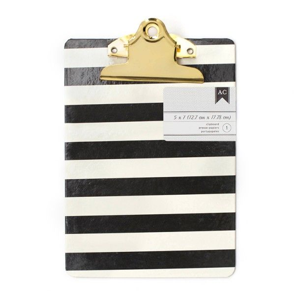 Podkładka do pisania - 12,70 x 17,78 cm - White Stripes AC - PAPERCONCEPT