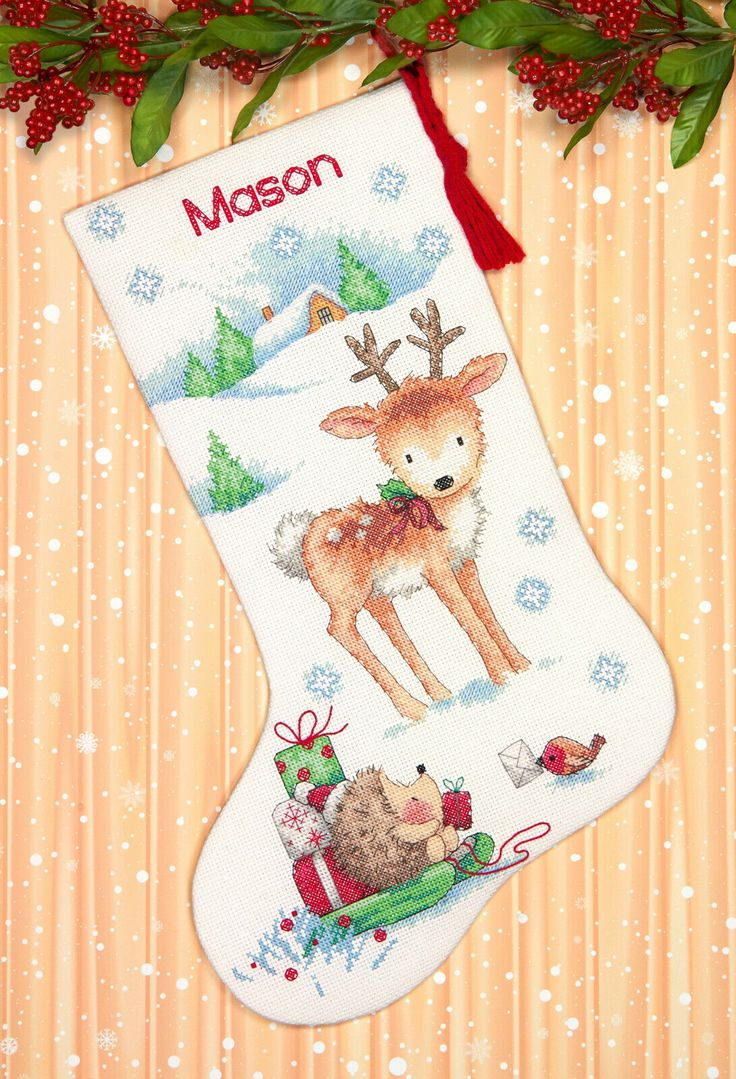 Cross Stitch Kit Dimensions Reindeer & Hedgehog