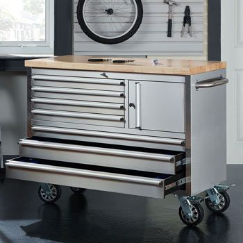Butcher Block Workbench >> Stainless Steel Tool Chest Costco | rollover to zoomI want 2 of these back to back for a kitchen ...