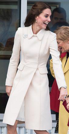 Catherine Walker cream princess coat. Click for more details